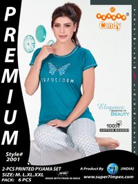 2 Pcs.Printed Pyjama set