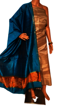 PURE TUSSAR SILK TOP 2.5 MTRS , WIDTH 46