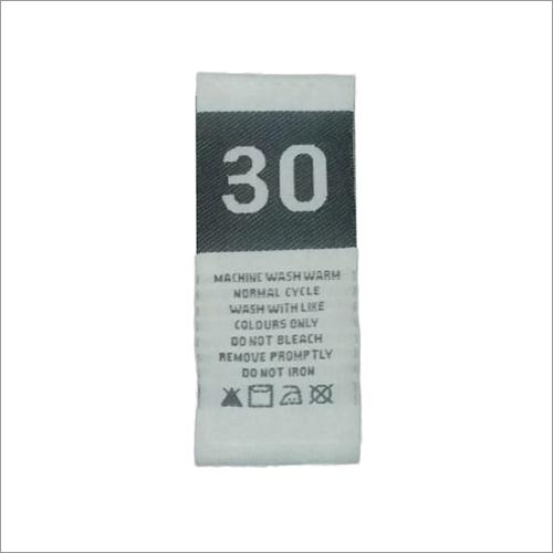 Taffeta Wash Care Labels