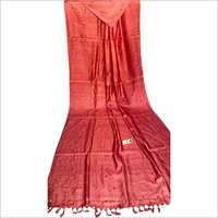 Pure desi tussar silk sarees , with real glass stiched by hand on 1 mtrs pallu .