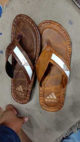 Mens Adidas Leather Slippers