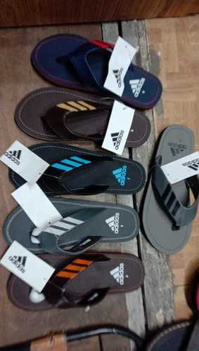 Mens Adidas Three Strips Slippers