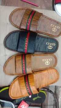 Mens Gucci PU Slide Leather Slippers