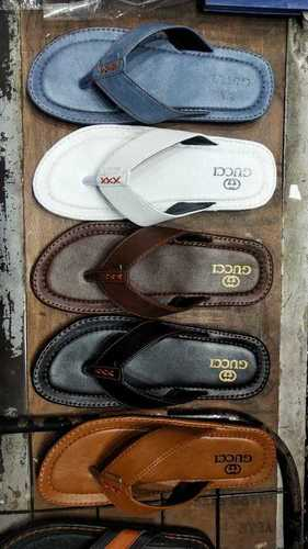 Mens Gucci Leather Slippers