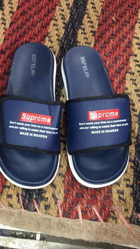 Mens Supreme Blue Slippers