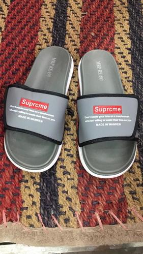 Mens Supreme Grey Sports Slippers