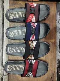 Mens White Sports Slippers