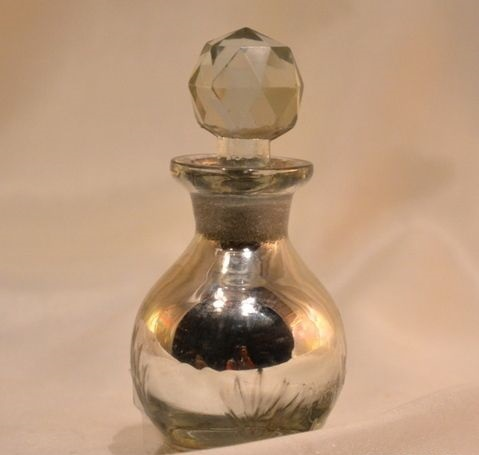 Silver Perfume Bottle, Glass Perfume Bottle And Decanter