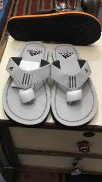 Mens Adidas White Designer Slippers