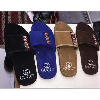 Mens Gucci Stylish Canvas Slipper