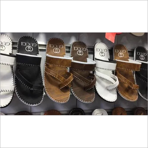 Mens High Quality Leather Slippers