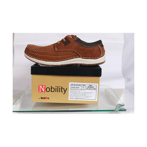 Mens Nobility Brown Casual Shoes