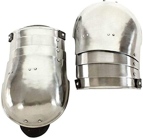 B07qmn71y5 Medieval Renaissance 18g Mild Steel Functional Cavalier Shoulder Pauldrons