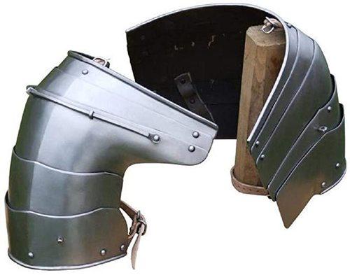 B07xlblhnx German Pauldrons Medieval Shoulder Armor Halloween Costume Silver