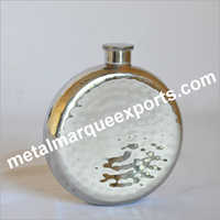 Stainless Steel Hammered Round Flask