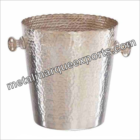 Stainless Steel Hammered Ice Bucket