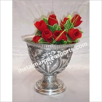 Aluminum Embossed Flower Vase