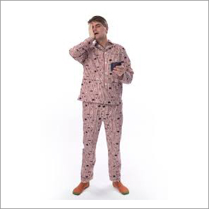 Mens Printed Night Suit