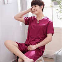 Men Plain Night Suit