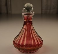 Color And Cut Glass Decanter