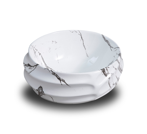 White Rounded Ceramic Table Top