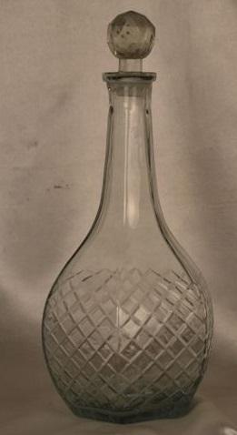 Long Glass Cut Flower Vase
