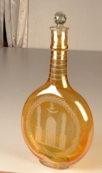 Yellow Blown Glass Decanter