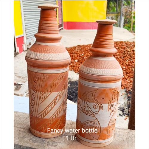 1 Ltr Terracotta Fancy Water Bottle