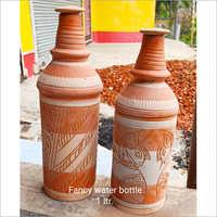 1 Ltr Terracotta Fancy Water Bottle