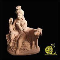Terracotta Shree Krishan Sculpture