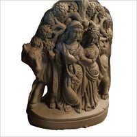 Terracotta Radha Krishna Sculpture