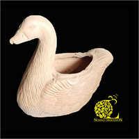 Terracotta Duck Sculpture