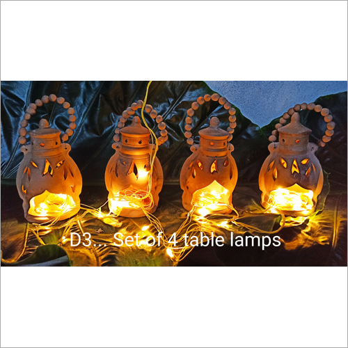 Terracotta Set Of 4 Table Lamp