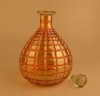 Glass Perfume Bottle And Decanter, Antique Art Decor Cut Glass Decanter With Stopper Bottle