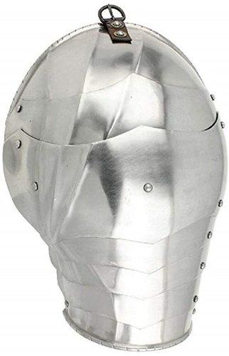 B07s4l3lv6 Medieval German Gothic Armor 16g Pauldron Set Silver