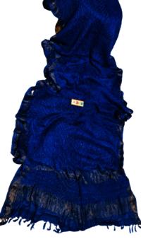 Bandhni on Pure Tussar (Kosa) Silk Saree