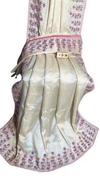 Zardozi Hand Embroiderd Pure Kosa (Tussar ) Silk Saree
