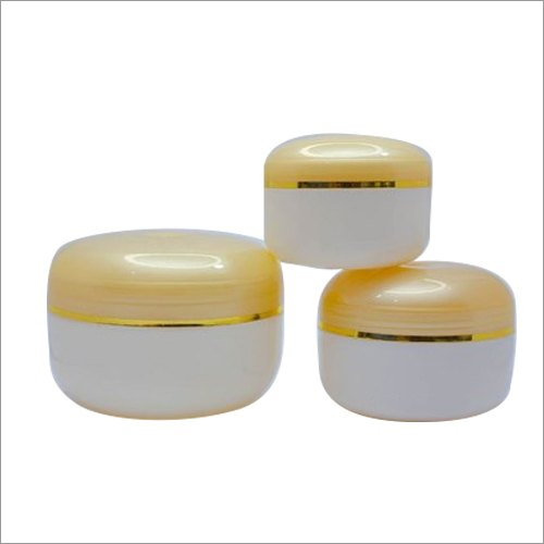 Plastic Cream Jar With Gold Lid
