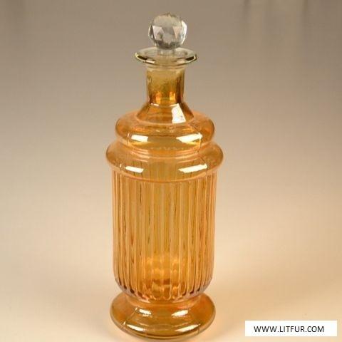 Yellow Color Glass Decor Decanter