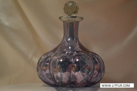 Luster Colored Glass Decanter Pretty And Decorative Vintage Decanter