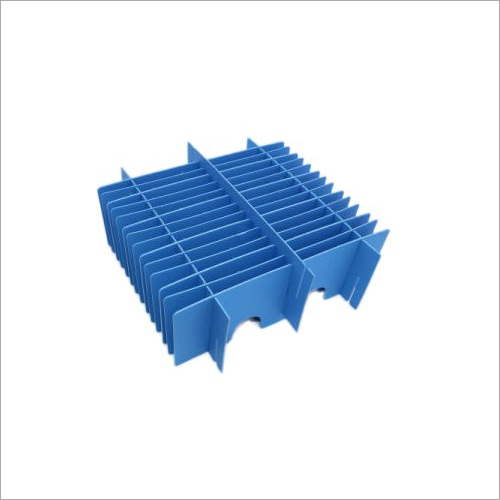 Corrugated Blue Plastic Partition