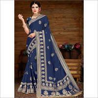 Banarasi Blue Viscose Saree