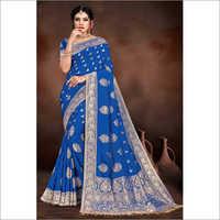 Banarasi Viscose Printed Saree