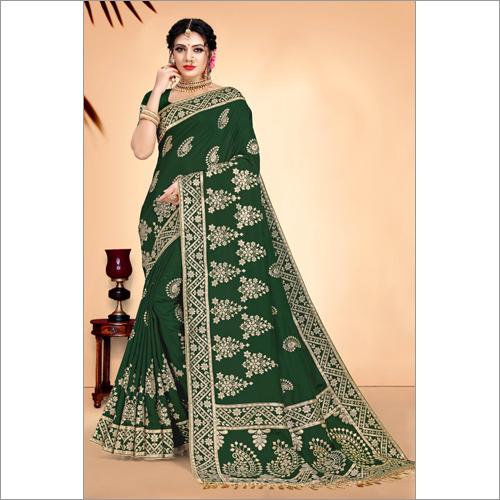Banarasi Green Fancy Viscose Saree