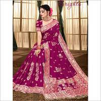 Banarasi Party Wear Printed Viscose Saree