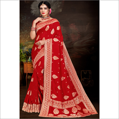 Embroidered Party Wear Viscose Saree