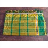 Polyester Checks Subahaya with Fringes