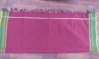 Dyed Polyester Lungi with Fringes