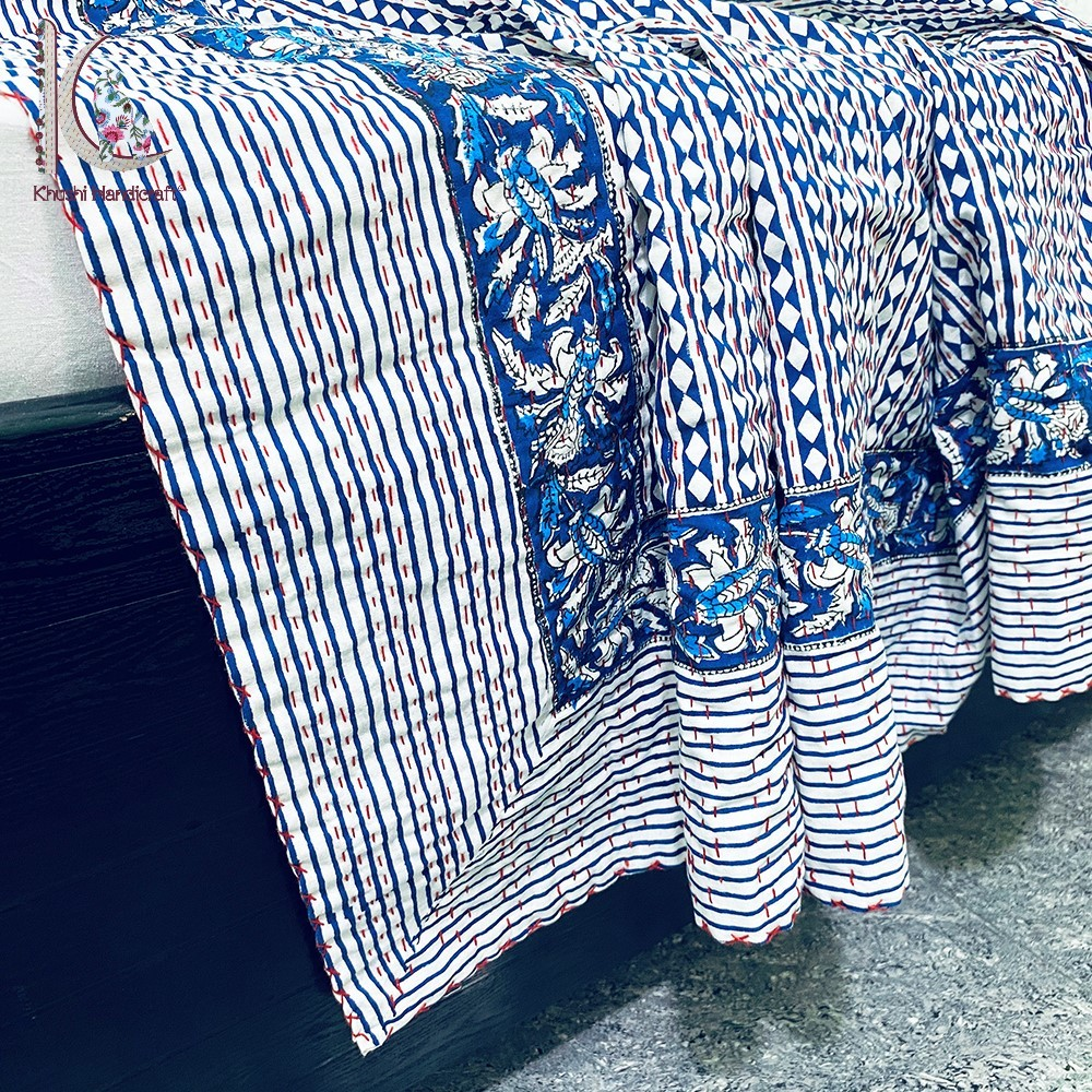 Kantha Bed Spread Eco-friendly Bed Cover