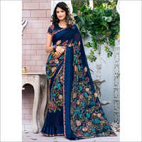 Digital Printed Georgette Saree